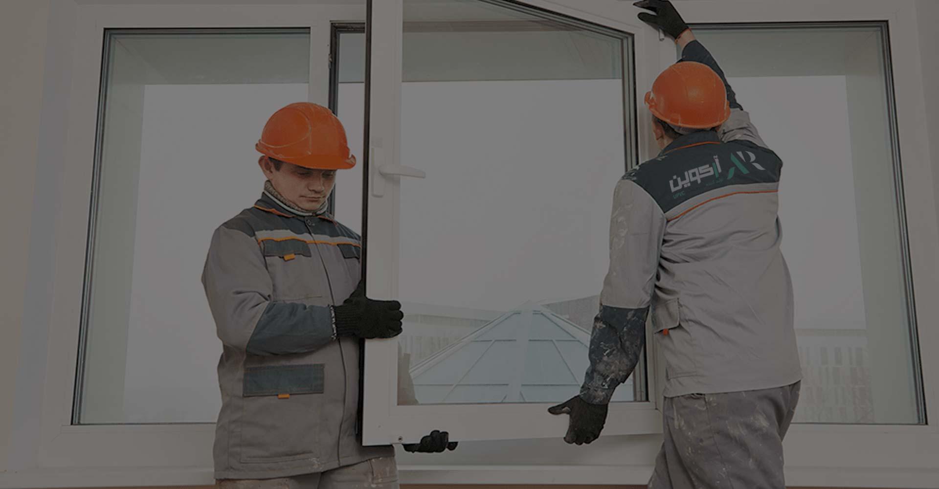 اسلایدر 2 درب و پنجره upvc