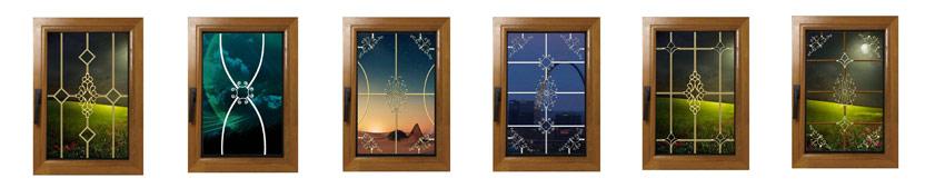 انواع گل تزیینی داخل شیشه دوجداره